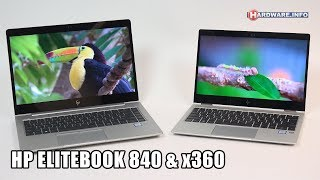 HP Elitebook 840 G5 en x360 1020 G2 review - Hardware.Info TV (4K UHD)