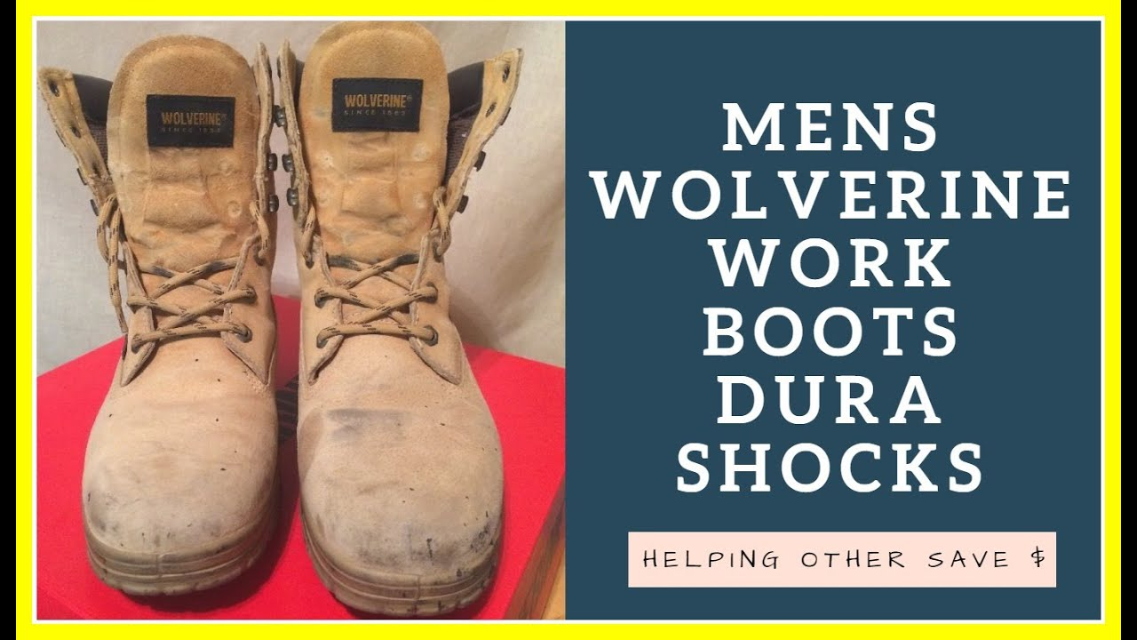 908032e770d Mens Wolverine WORK Boots Dura Shocks Waterproof Trappeur 8 M