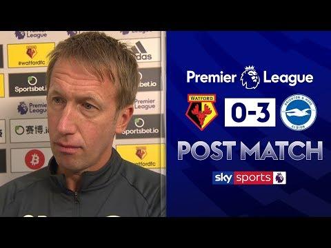 """It's a dream start for Brighton!"" | Graham Potter Post Match | Watford 0-3 Brighton"