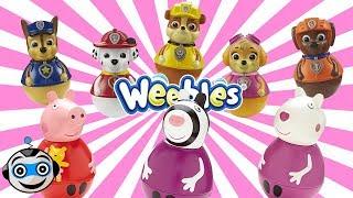 Paw Patrol and Peppa Pig Weebles
