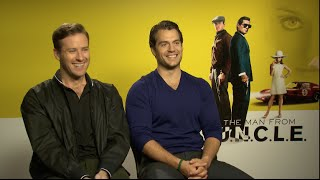 THE MAN FROM UNCLE interviews - Cavill, Hammer, Vikander, Richie, Debicki