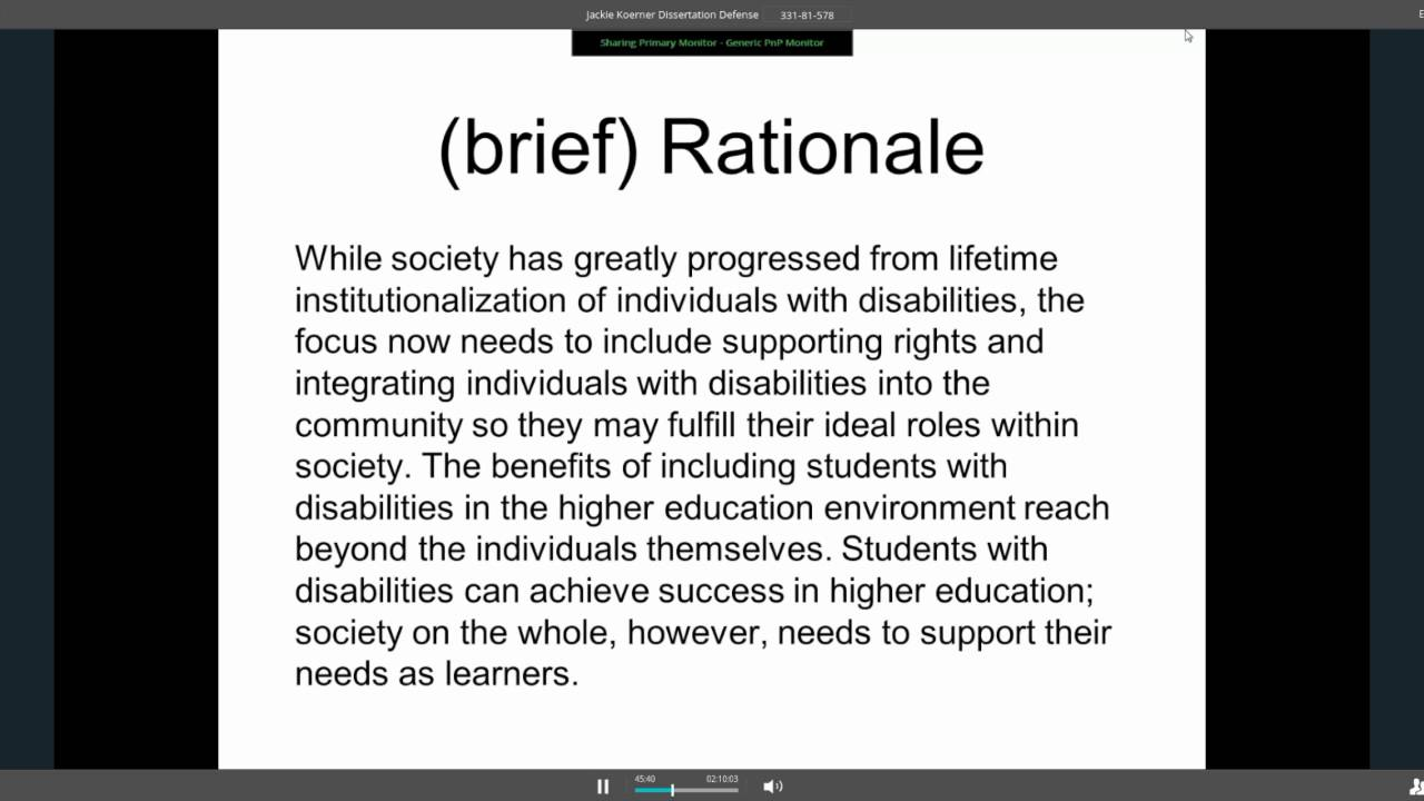 Phd thesis on disability