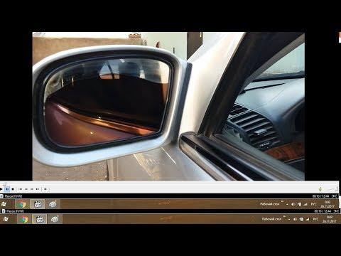 ремонт бокового зеркала Mercedes W220 S400 Cdi убираем антиблик