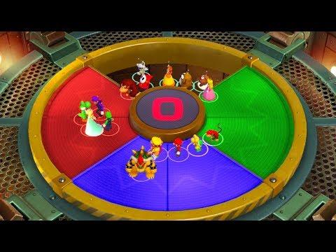 Super Mario Party Minigames - Mario vs Bowser vs Peach vs Daisy