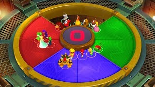 Super Mario Party Minigames - Mario vs Bowser vs Peach vs Daisy