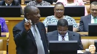 Parliament. Cyril Ramaphosa vs DA