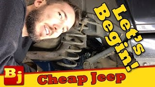 The Work Begins - Operation Cheap Jeep