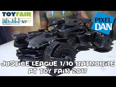Justice League Batmobile 1/10 Scale from Mattel at New York Toy Fair 2017