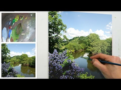 How To Paint Flat Or Block Colour In Acrylics Youtube