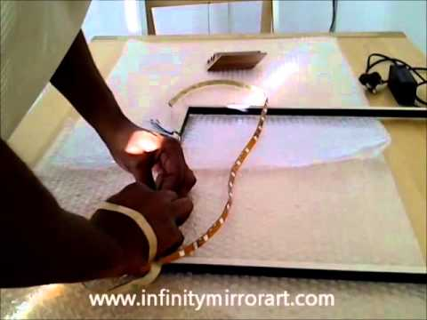 How to make infinity mirror- by www.infinitymirrorart.com