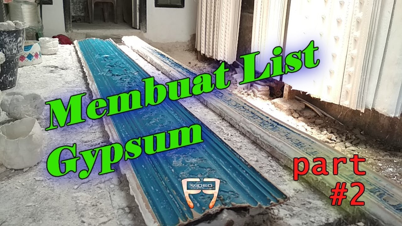 Panjang List Gypsum Proses Mencetak List Gypsum 2 Ff Video