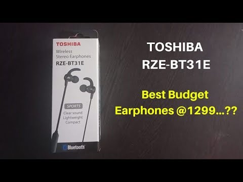 TOSHIBA RZE-BT31E Earphone Unboxing and Review | Toshiba RZE-BT31E Review