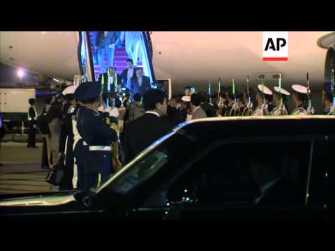Iranian President Rouhani arrives for regional summit