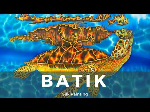 BATIK SILK PAINTING WITH JEAN-BAPTISTE – FINE ART – OASIS –  絲綢畫