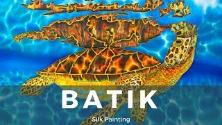 BATIK SILK PAINTING WITH JEAN-BAPTISTE - FINE ART - OASIS -  絲綢畫