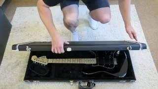GENUINE FENDER Stratocaster /Telecaster GUITAR CASE BLACK PRO SERIES UNBOXING