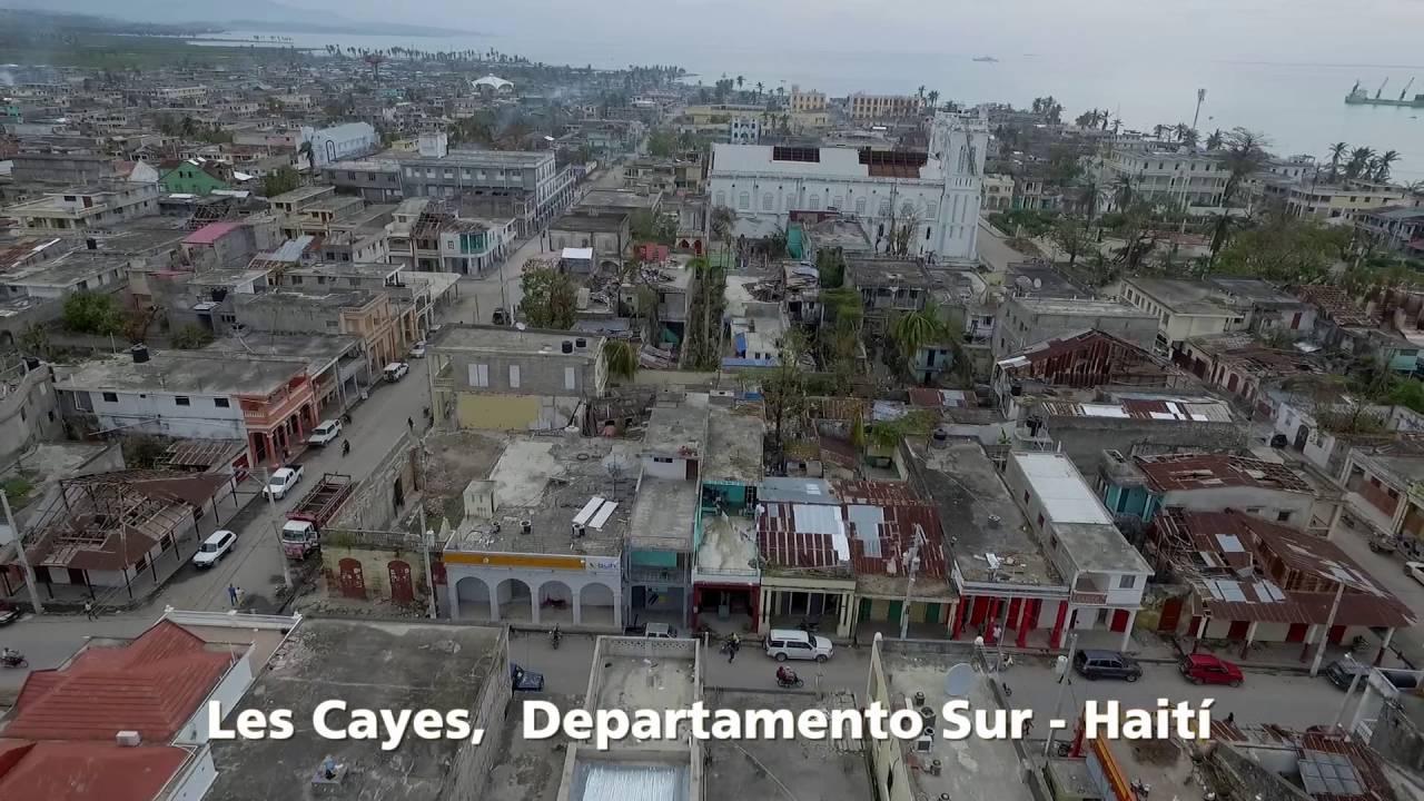 Como Es Vivir En Haiti imágenes aéreas—huracán matthew haití 2016