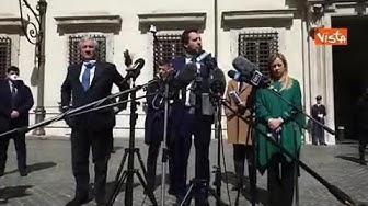 Coronavirus, Salvini dopo il vertice a Palazzo Chigi: «Servono soldi alle aziende»