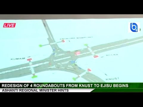 Watch the new roundabout design for Ejisu-Ashanti and three other locations