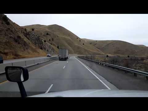 BigRigTravels LIVE! Huntington to La Grande, Oregon Interstate 84 West-Nov. 25, 2017