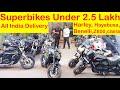 Gambar cover Superbikes Under 2.5 Lakh | Z800 | Ducati | Benelli  Harley Davidson| Saraswati Motors Jasneet Singh