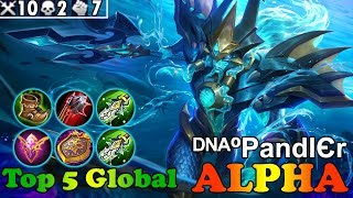 The Rage of Neptune [ᴰᴺᴬºPandlЄr] Top 5 Global Alpha Gameplay mobile legends