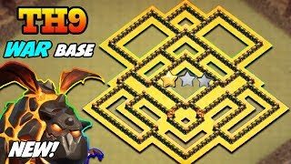 BEST TH9 WAR BASE 2018 | TOWN HALL 9 WAR BASE 2018 ANTI 2 STAR! | ANTI 3 STAR , ANTI EVERYTHING!