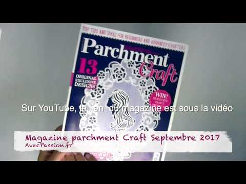Magazine Pergamano Parchment Craft Septembre 2017
