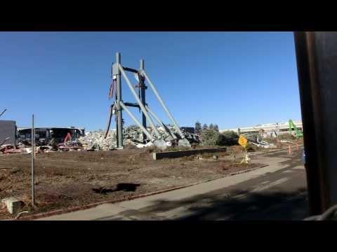 Apple Spaceship HQ construction site & Ex HP demolished site - Jan 2014