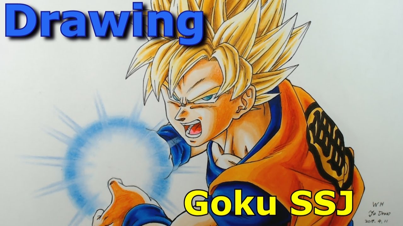 Drawing Goku Super Saiyan SSJ Kamehameha Dragon Ball - YouTube | 1280 x 720 jpeg 122kB