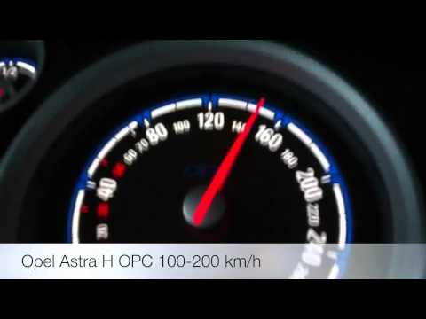 Opel Astra H OPC 100-200 km/h