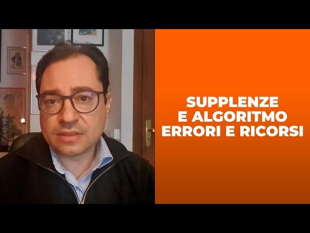 Errori algoritmo supplenze: come si risolve il problema?