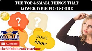 Top 4 Unknown Things That Decrease Your FICO/Credit Karma Score Even With Little To No Credit Cards