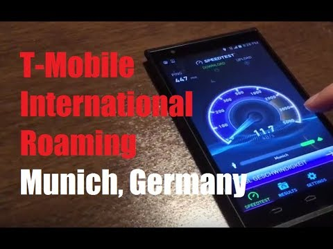 T-Mobile International Roaming in Munich, Germany! (Data, Web, Navigation)