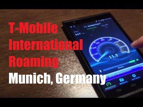 T Mobile International Roaming In Munich Germany Data Web