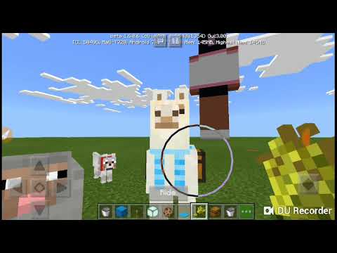 how-to-ride-a-llama-in-minecraft-pocket-edition