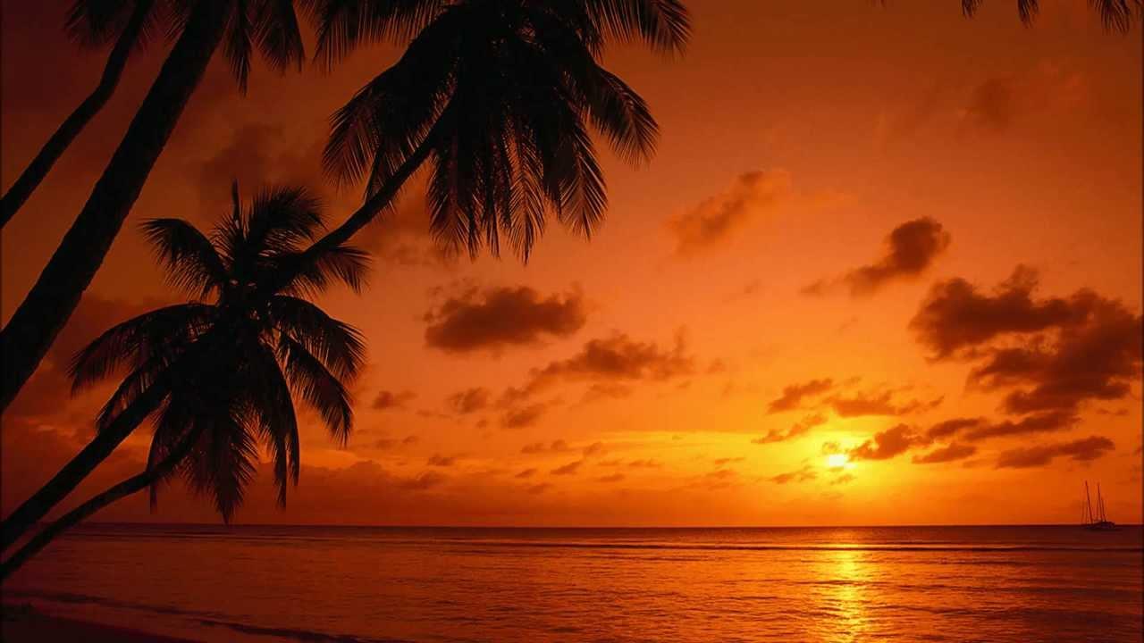Tropical Island Beach Ocean Sunset: Caribbean Sunset (Vibraphone Duet)