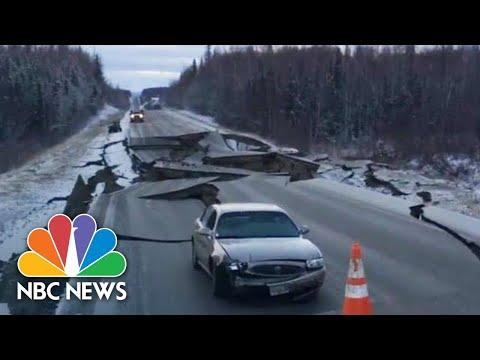 Witnesses Capture Violent Alaska Earthquake And Aftermath   NBC News