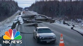 Witnesses Capture Violent Alaska Earthquake And Aftermath | NBC News