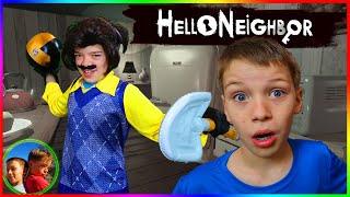 Hello Neighbor In Real Life DODGE BALL!  Steel Kids