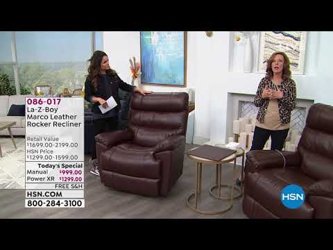 LaZBoy Marco Leather Rocker Manual Recliner YouTube
