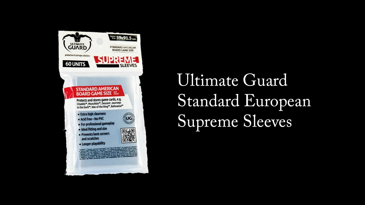 Ultimate Guard Big Square Premium Soft Sleeves for Board Game Cards Transparent