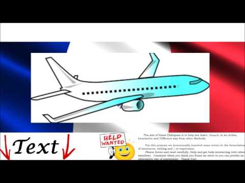 Conversation  in French  Free Online - On the plane = En Avion - Travel by Airplane