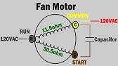 Condenser Fan Motor Ohm Testing and Wiring - YouTube on