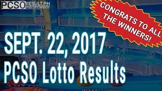 PCSO Lotto Results Today September 22, 2017 (6/58, 6/45, 4D, Swertres & EZ2)