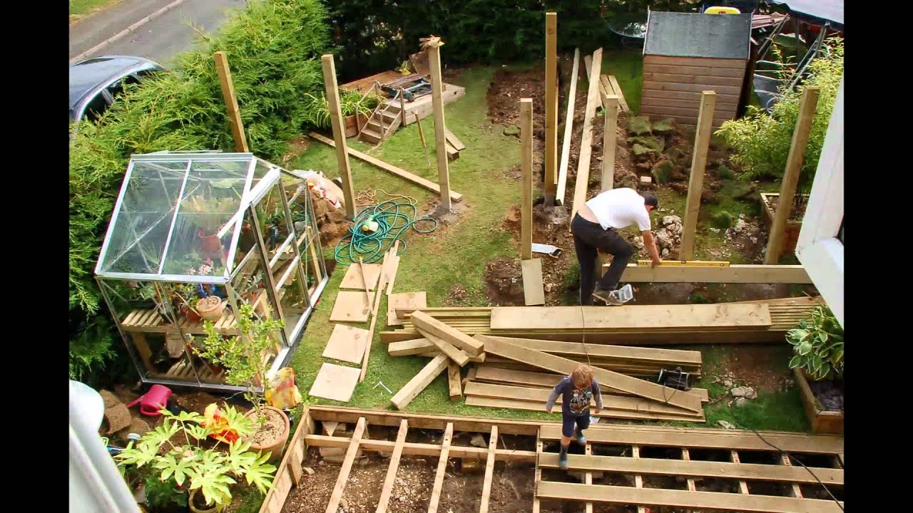 Back garden makeover 6 days in 4 minutes timelapse youtube for Garden makeover