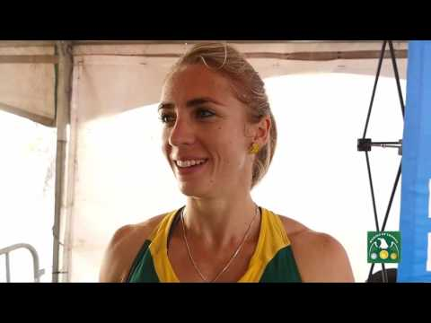 Wenda Nel -  RSA -  400m Hurdles GOLD medallist at the African Championships, Durban 2016