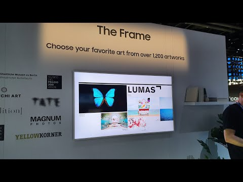 Samsung's Interactive Frame TV Display - CES 2020