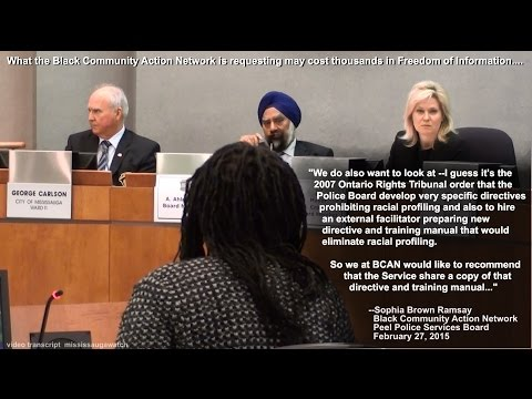 """Peel Police and City of Mississauga race statistics: Make your Black """"history"""" public."""