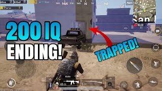 200 IQ ENDING! *TRAPPED* | Solo VS Squad - Miramar Desert Map | PUBG Mobile